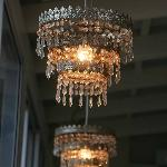 Chandelier on the deck