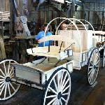 the wagon building shop.. wagons for sale here..