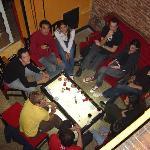 Restaurante y Bar del Hostal donde se comparte con personas de toda nacionalidad