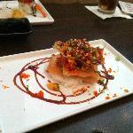 Tuna Tower - Spice Tuna, Wontons and Rice