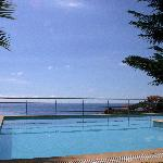 The sea view from the swimming pool