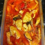 Very oily chicken penang curry