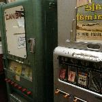 cigarette machines near the bathrooms