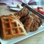 CHIK, WAFFLES, WATERMELON; great kids meal, easy to share