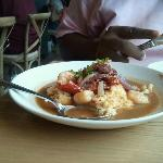 SHRIMP & GRITS, $21 - not so easy to share, but great for one!