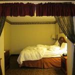 King Bed With Curtain Divider