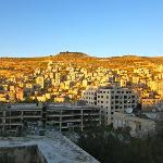 view of Nablus from the guest house entrance
