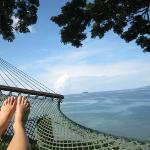 View of Somosomo Strait relaxing on the hammock