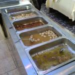 Buffet breakfast 自助早餐 - 比其他溫泉都差。