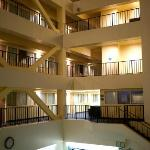 Interior area above pool/lobby