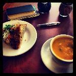 Angelica Cornbread with Sweet Potato & Corn Soup