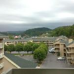 View of the Great Smoky Mts. from our room