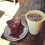 Stumptown coffee and chocolate crumb cake