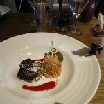 Iced Tiramisu Parfait with Chocolate Brownie