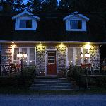 Our BnB at night time!