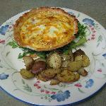 Dawn's Mother taught her how to make delcious pastry! Enjoy quiche with roasted potatoes!