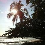 Playa justo enfrente del hotel