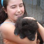 Madison Donoghue and baby Wolf