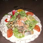 The seafood salad