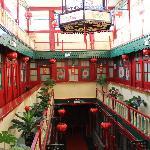 """Main """"atrium"""" with rooms surrounding."""