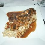 Braciole of Veal with mushrooms and wine sauce