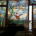 vetrata sala colazione