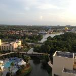 view of downtown Disney & pool. this was taken from my balcony.