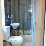 Shower room, angle of photo actually makes it look bigger!