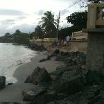 Malecon from beach before 2011 renovation