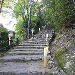 Treppenaufstieg zum Tempel