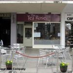 Outside view of The Tea Rose. Perfect little outdoor dining area x