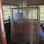 Upstairs second bedroom/study with cot
