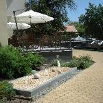 back garden of the hotel