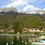 Talloires harbor, a 5 minutes walk from the hotel