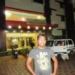 Hotel Ashoka Executive:me in front of hotel