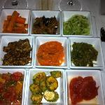 nice selection of salads