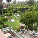 Vue de notre chambes à coté du jardin de la katoubia