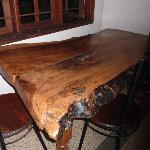 One of the dinner tables, they were all made of this wood.