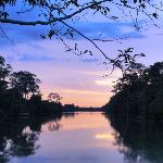 coucher de soleil à Angkor