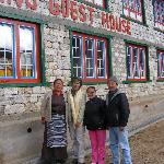 Mr. Tsedam Sherpa, his wife and daughter
