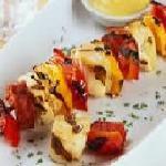chicken and chorizo kebab