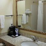 Bathroom with individual coffee pot