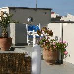 Terrasse pour le petit-déjeuner