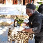 AMARULA TOTS SERVED WHEN WE ARRIVED