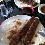 kebab with white rice