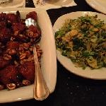 kung pao scallops & brussel sprouts