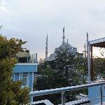 La Moschea Blu vista dalla terrazza dell'Hotel
