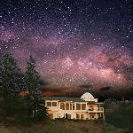 Observatory B&B under the rising Milky Way