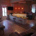 El Pescado room - living room and kitchen view