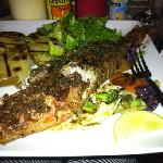 Delicious Red Snapper served at Pun de Grill